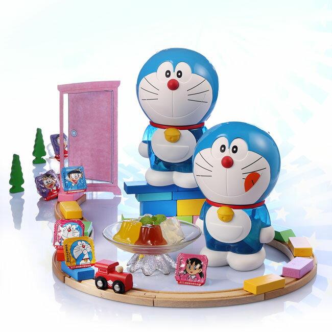 《盛香珍》哆啦A夢綜合果凍桶-俏皮版-265g(桶)-附提繩