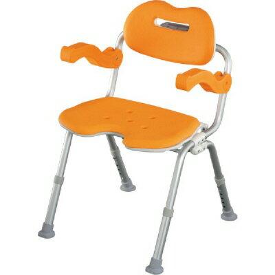 Panasonic 可收折U型洗澡椅●高度6段可調及防滑設計 (橙色) *日本進口**平行輸入*『康森銀髮生活館』無障礙輔具專賣店