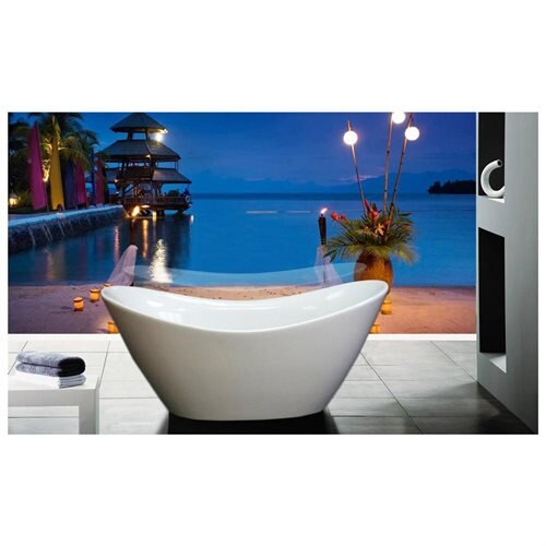 "AKDY Bathroom 66.9"" Spa White Color Freestanding Acrylic Bathtub AK-F210 0"
