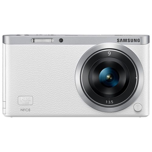 "Samsung NXF1 20.5 Megapixel Mirrorless Camera with Lens - 9 mm - 27 mm - White - 3"" Touchscreen LCD - 16:9 - 3x Optical Zoom - Optical (IS) - 5472 x 3648 Image - 1920 x 1080 Video - HDMI - HD Movie Mode - Wireless LAN 0"