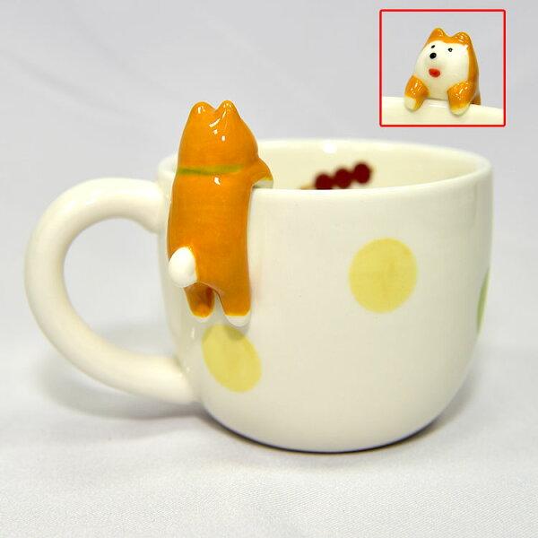 concombre杯緣柴犬陶瓷馬克杯