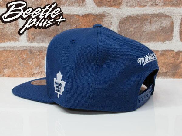 BEETLE PLUS 全新 MITCHELL&NESS NHL TORONTO 多倫多 楓葉 藍 白字 後扣 棒球帽 SNAPBACK MN-371 1