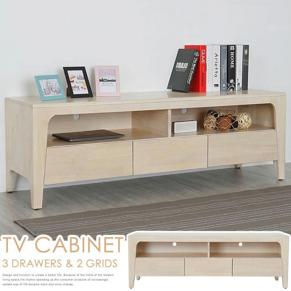 電視櫃/矮櫃/長櫃【Yostyle】克林實木電視櫃-洗白色