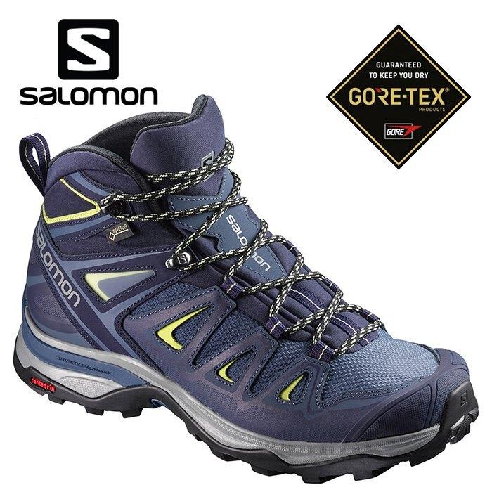 【毒】SALOMON 女款 X ULTRA 3 GTX 中筒登山鞋 輕量防水 健行專用 L40129600