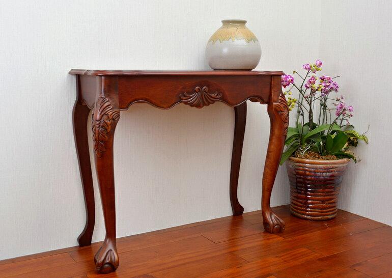 玄關桌(胡桃色)