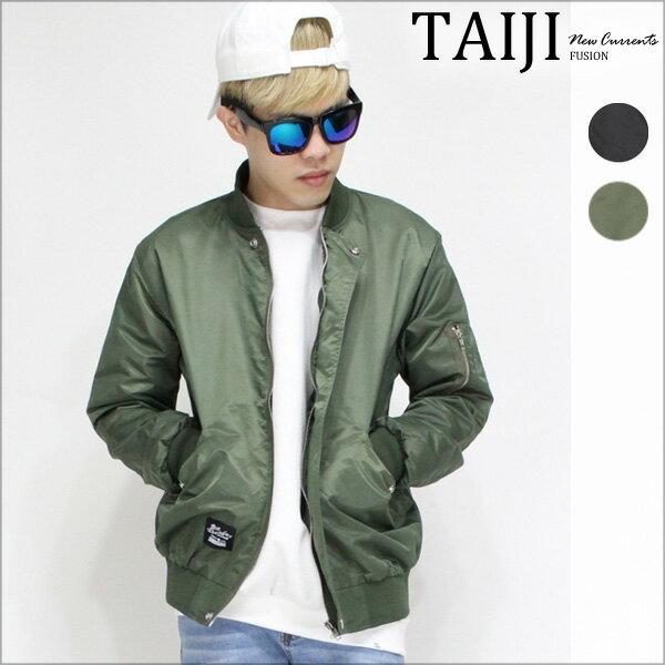 TAIJI:飛行外套‧素色立領鈕釦設計潮流飛行外套‧二色【NJ0512】-TAIJI-
