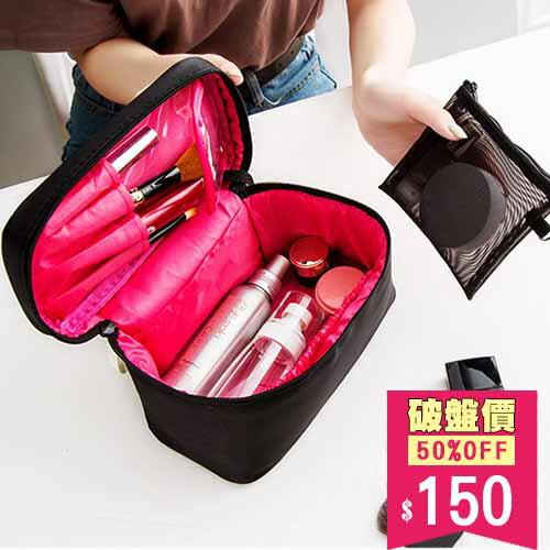 包飾衣院:化妝包超值大容量手提式彩妝筆刷包旅行洗漱包收納包包飾衣院K1092現貨(附發票)