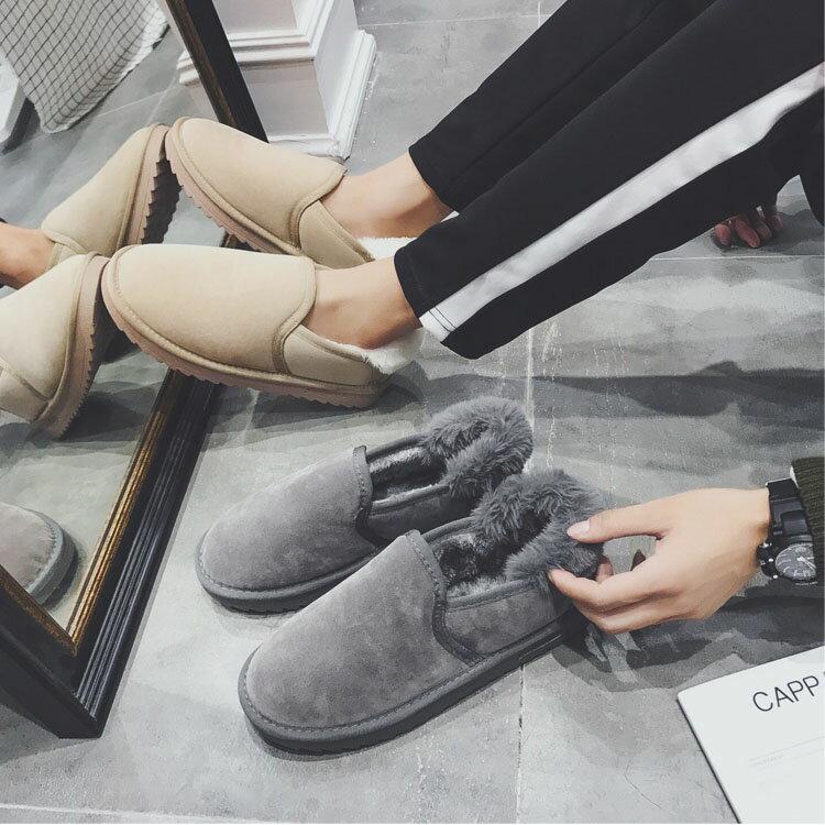 日韓風格雪靴加厚保暖男款低筒雪靴