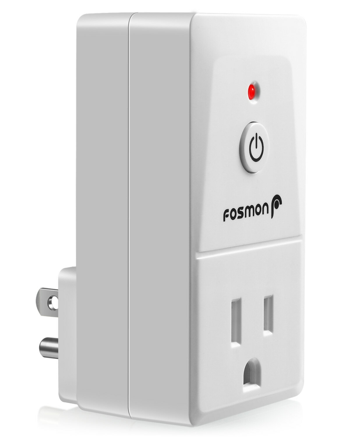 Fosmon Single Outlet Receiver for Wireless Remote Control Switch (Add-On) –  White 44fbd5a3f