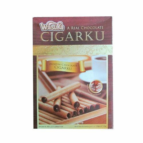 WASUKA 爆漿捲心酥-巧克力 288g【愛買】
