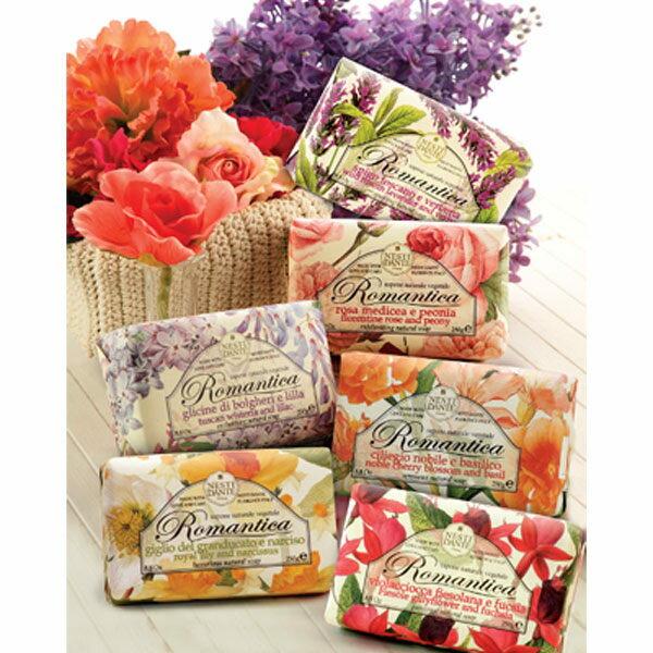 Nesti Dante 義大利手工皂 愛浪漫生活風系列 佛羅倫斯玫瑰牡丹皂 250g《Belle倍莉小舖》