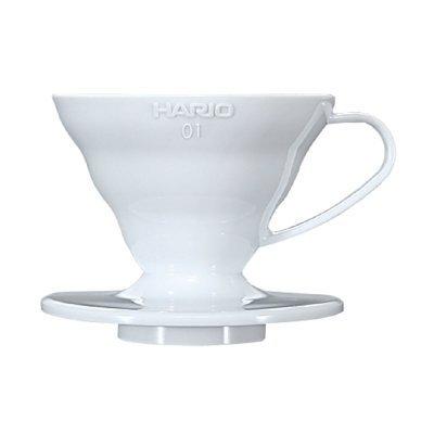 日本進口 HARIO (VDC-01W 和 VDC-02W) 陶瓷錐形濾杯 附咖啡匙 (白色) 手沖濾器 『可刷卡、超商取貨免運』
