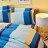 Pure One 超保暖搖粒絨 - 北歐條紋-藍 @ 加大四件式床包被套組 @ 台灣製 @ SGS檢驗合格 - 限時優惠好康折扣