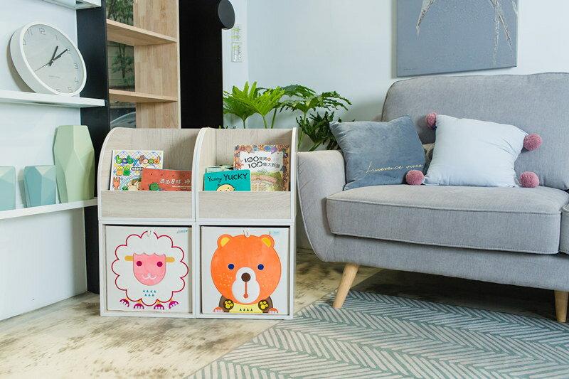 收納櫃 收納  收納箱 兒童收納 MyTolek 童樂可積木櫃&藏寶盒六件組(北歐風~木紋) 2