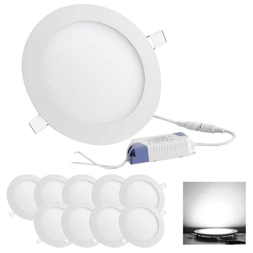 Set of 10pcs 12W LED Recessed Ceiling Panel Down Light Bulb L& with Driver Home Office  sc 1 st  Rakuten.com & YescomUSA: Set of 10pcs 12W LED Recessed Ceiling Panel Down Light ...
