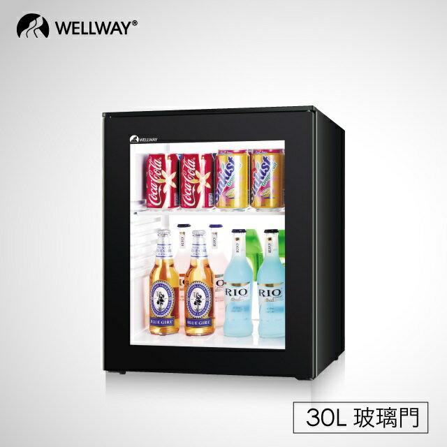 Wellway Minibar XC-30C玻璃門30公升/無聲0噪音/個人小冰箱/飲料專用/五星飯店指定使用 - 限時優惠好康折扣