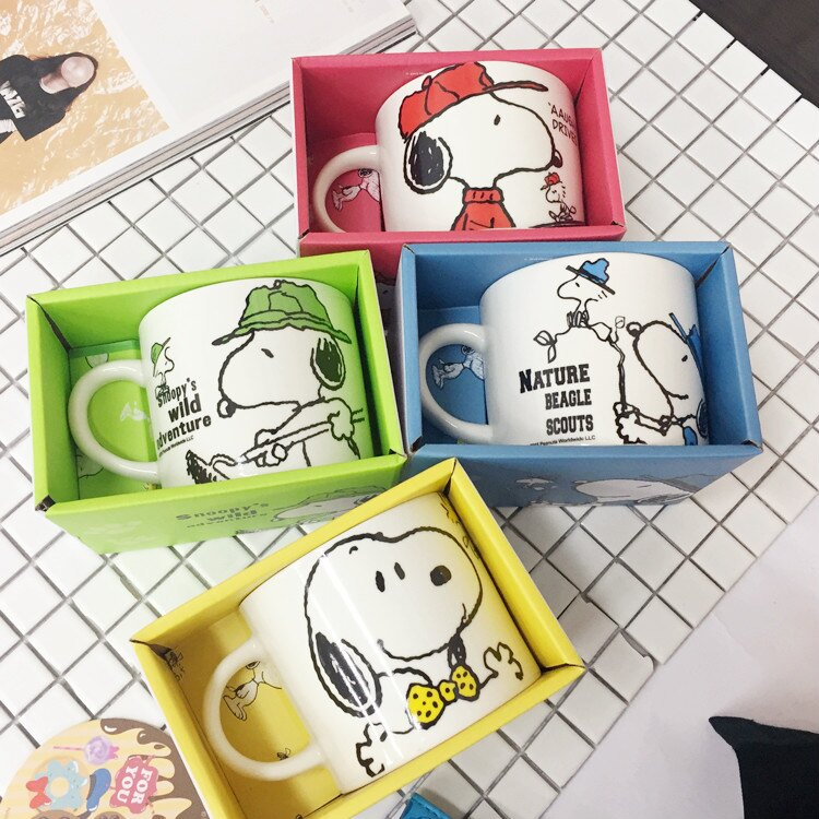 PGS7 日本卡通系列商品 - 史努比 陶瓷 湯杯 馬克杯 水杯 陶瓷杯 湯碗 史奴比 snoopy【SEE6986】