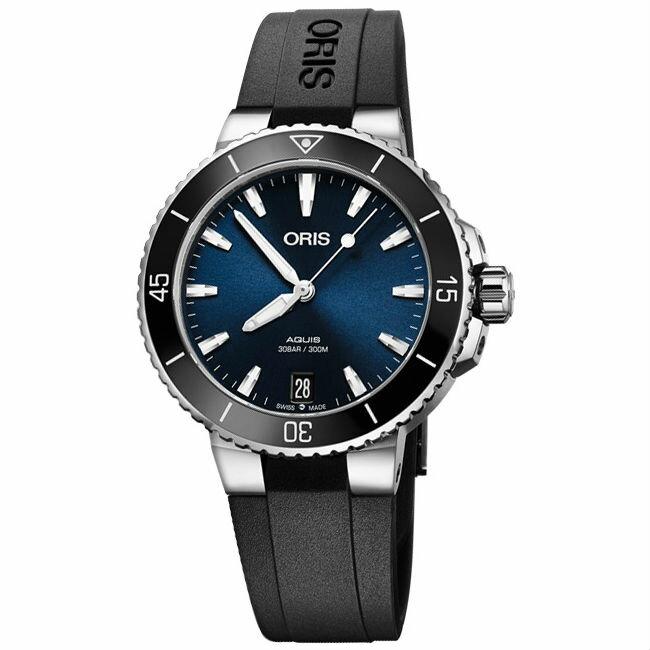 ORIS 豪利時 Oris Aquis 時間之海0173377314135-0741864FC潛水機械腕錶/36.5mm