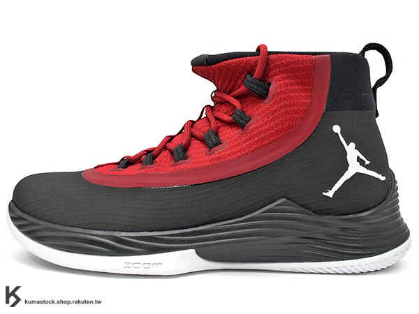 2017 NBA 公牛隊 神之子 Jimmy Butler 最新代言 NIKE JORDAN ULTRA FLY 2 X 黑紅 靴型鞋面包覆 中底 ZOOM AIR 氣墊 XDR 耐磨橡膠外底 AJ ..
