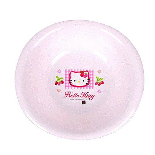 【真愛日本】16071200028晶亮臉盆S-KT大草莓粉  三麗鷗 Hello Kitty 凱蒂貓 臉盆 洗臉盆 衛浴用品