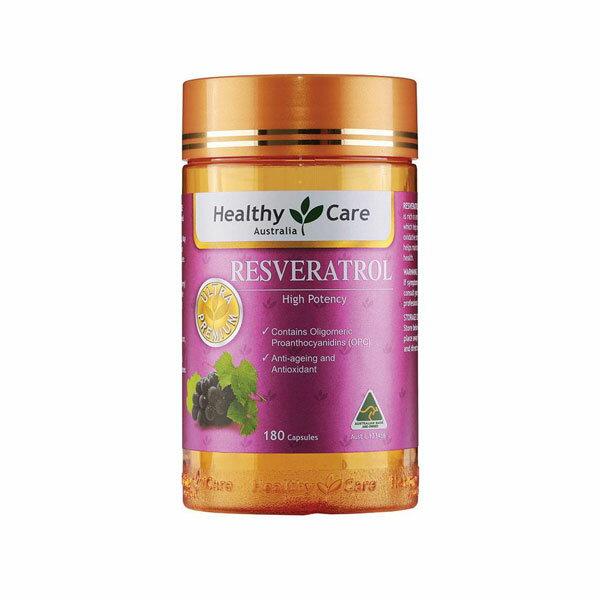 澳洲 Healthy Care Resveratrol 天然多酚白藜蘆醇膠囊 180顆/罐 白藜 蘆醇 膠囊【特價】§異國精品§