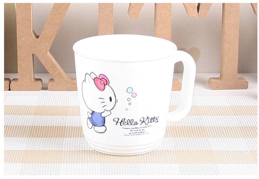 X射線【C090021】Hello Kitty 塑膠漱口杯,水杯/馬克杯/杯瓶/茶具/湯杯/玻璃杯/不鏽鋼杯