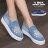 格子舖*【AS505】水鑽蝴蝶刷色牛仔布破壞 V口鬆緊厚底增高3.5cm帆布鞋 懶人鞋 2色 0