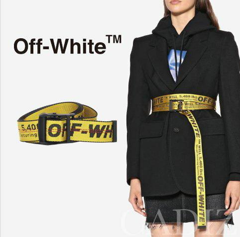 義大利正品 Off-White Industrial belt 經典黑釦中性寬版腰帶