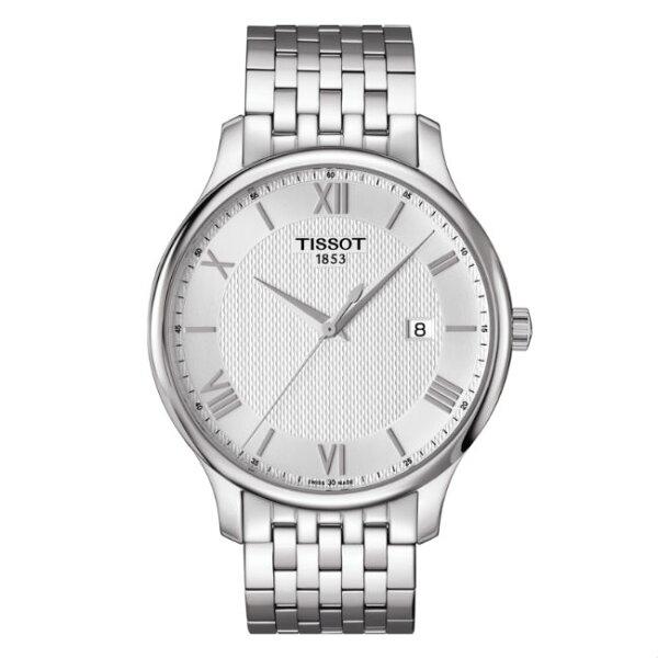 TISSOT天梭表T0636101103800TRADITION簡約羅馬時尚腕錶白面42mm