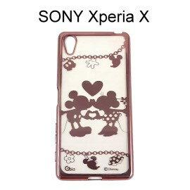 迪士尼電鍍軟殼[項鍊]米奇米妮 SONY Xperia X F5121 F5122 (5吋)【Disney正版授權】