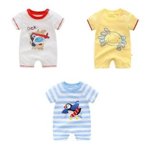 嬰兒短袖連身衣春夏兔裝寶寶童裝LZ22357好娃娃