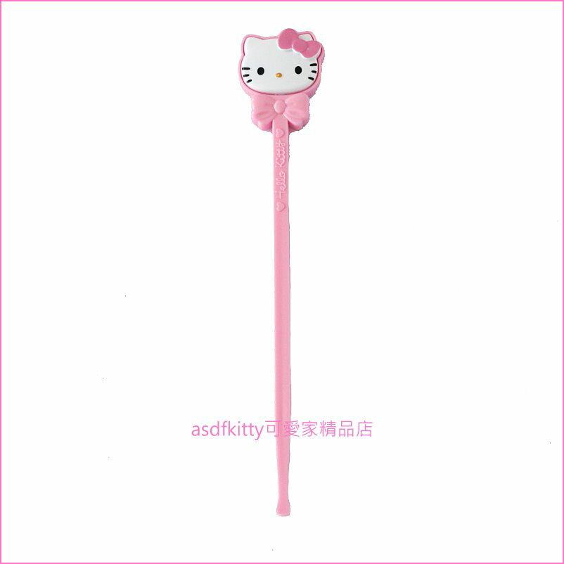 asdfkitty可愛家☆KITTY造型握把 耳扒/掏耳棒-日本正版商品