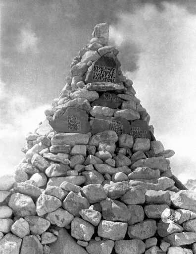 Mount Everest Memorial Nthe Memorial Cairn At Base Camp On Mount Everest Built By The Members Of The British 1924 Expedition And Dedicated To The Thirteen Climbers Lost On The Attempts To Climb Everest In 1921 1922 And 1924 Poster Print by (18 x 24) 62b5