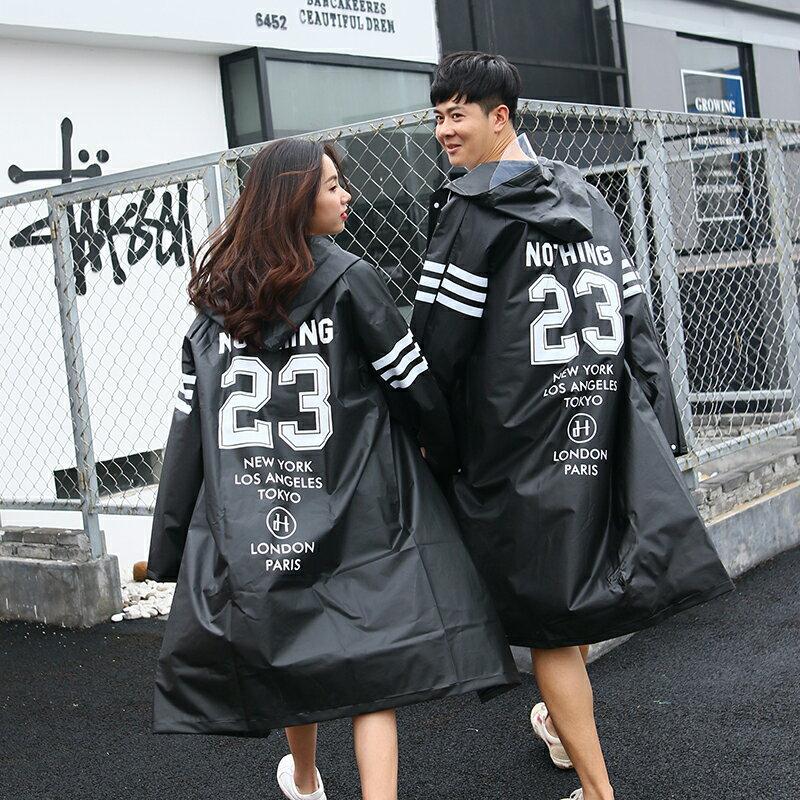 現貨 韓版潮流雨衣 潮牌個性 大衣長版 加大尺碼街頭嘻哈情侶雨披 披風雨衣 超酷 年輕人男生女生情侶時尚雨衣 6