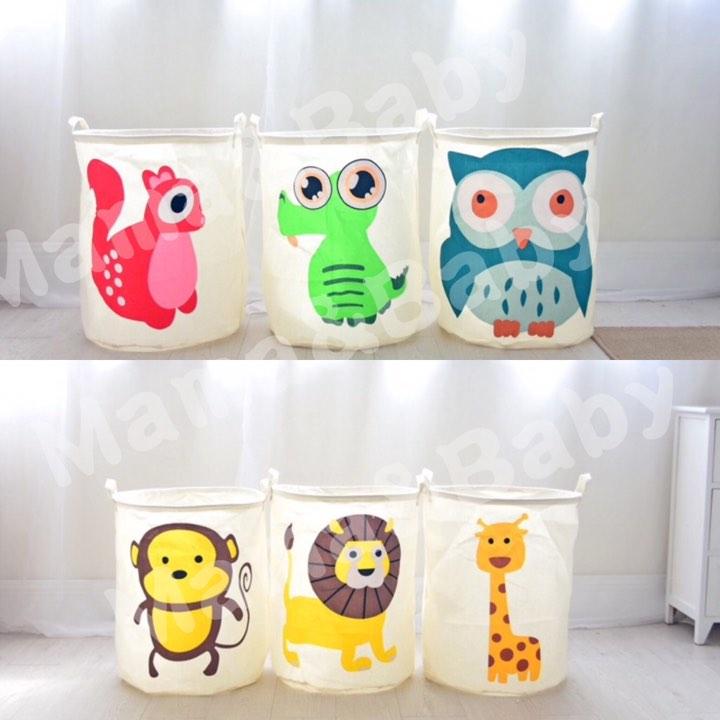 ❤️Mama&Baby 雜貨店❤️通動物 棉麻收納桶 棉麻手納  玩具收納桶 髒衣服收納桶