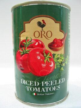 義大利ORO去皮切丁蕃茄400公克/罐