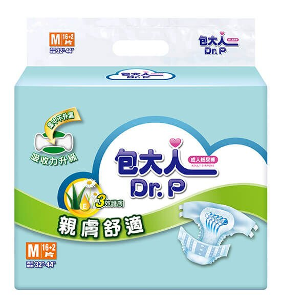 包大人 成人紙尿褲 親膚舒適 經濟型 M 16片+2片*6包 (箱購)【德芳保健藥妝】