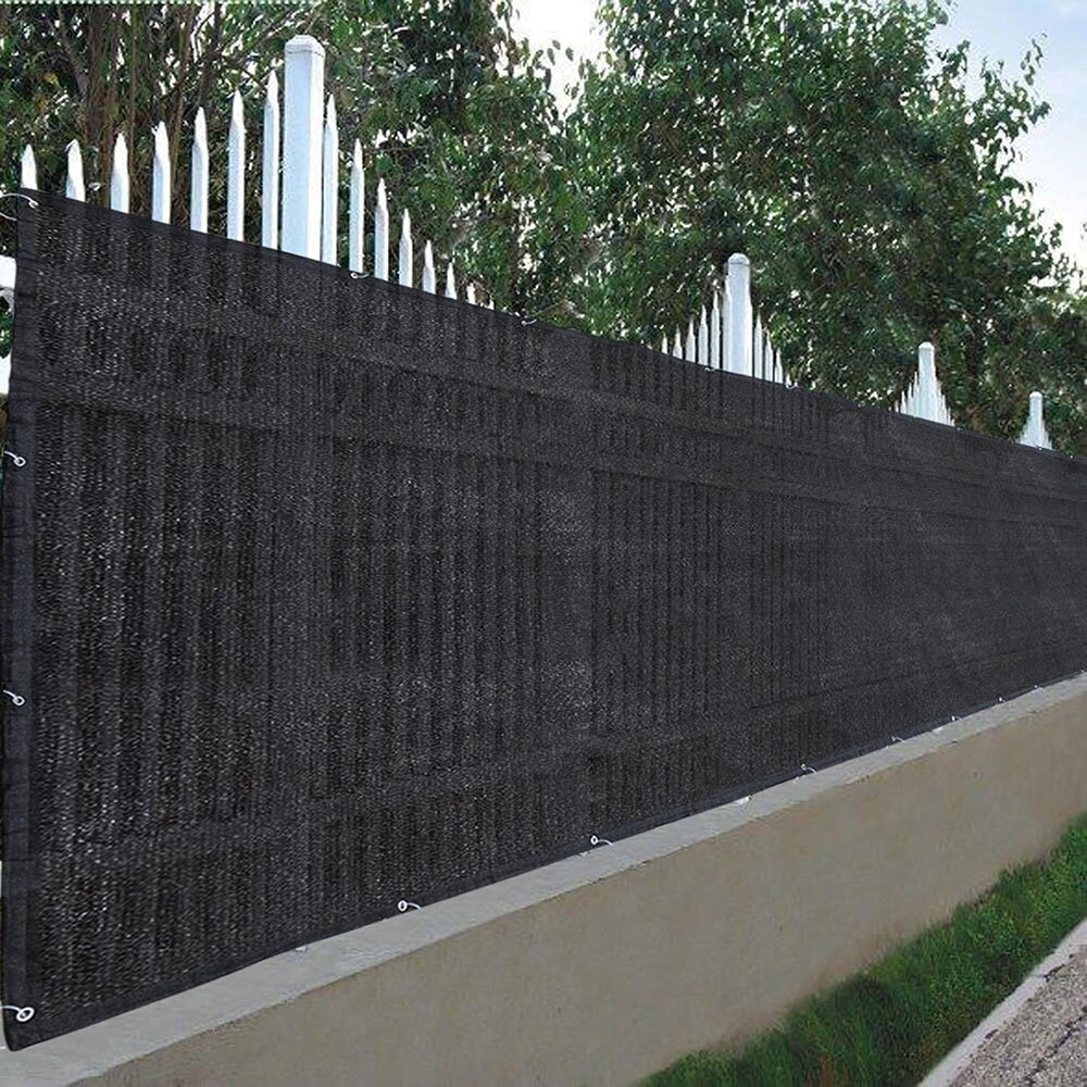 Flat Privacy Fence Screen Mesh 180gsm Virgin Hdpe 25x4 Black For 4ft Tall Fencing Fabric