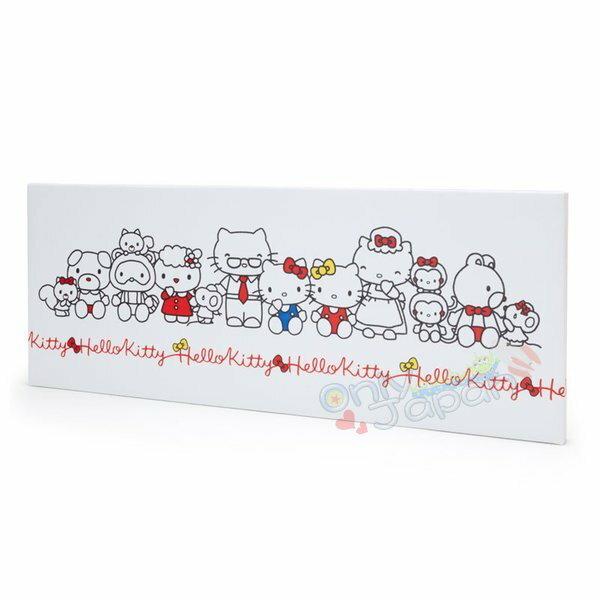 【真愛日本】4901610062074壁掛式壁畫-KT家族ADM凱蒂貓kitty三麗鷗家族壁畫居家擺飾裝飾