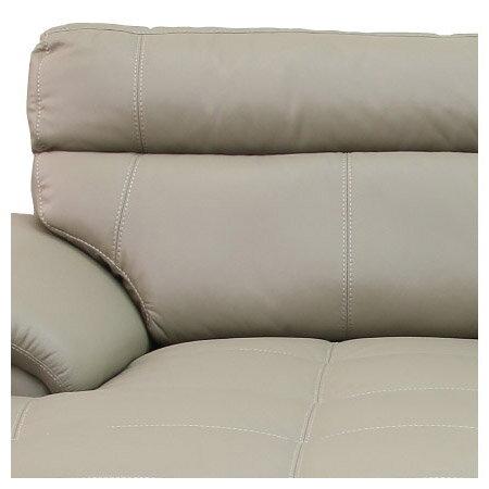◎(OUTLET)半皮右躺椅L型沙發 CAPUCCINO LC BE 福利品 NITORI宜得利家居 5
