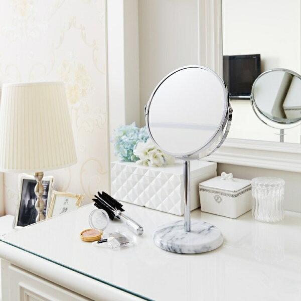 大理石雙面鏡-簡約白
