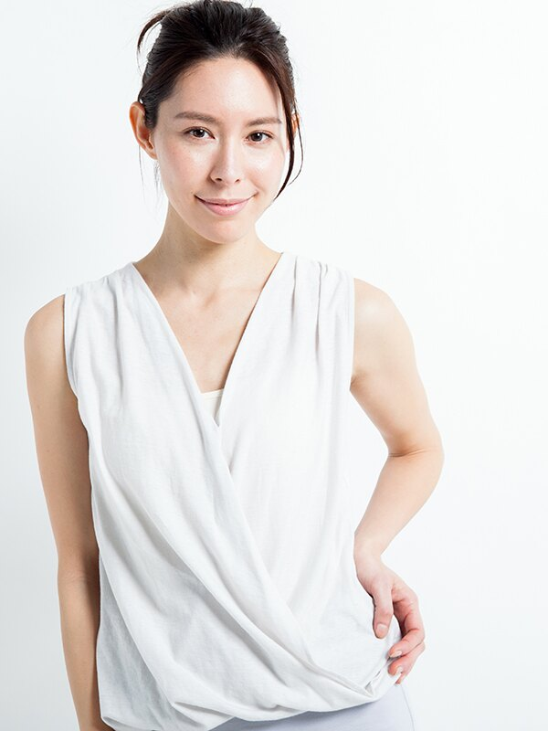【Kyoto】100%有機棉胸前交叉背心 日本製 瑜珈服 0