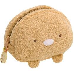 日貨 角落生物 豬排 零錢包 錢包 收納袋 收納包 絨毛包 化妝包 角落小夥伴 san-x 正版授權 J00015525