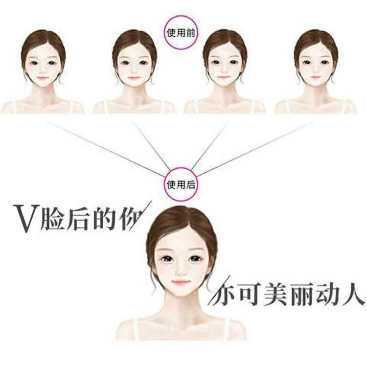 瘦臉神器小v臉睡眠繃帶 面罩瘦雙下巴提拉緊致面膜儀面霜瘦臉貼