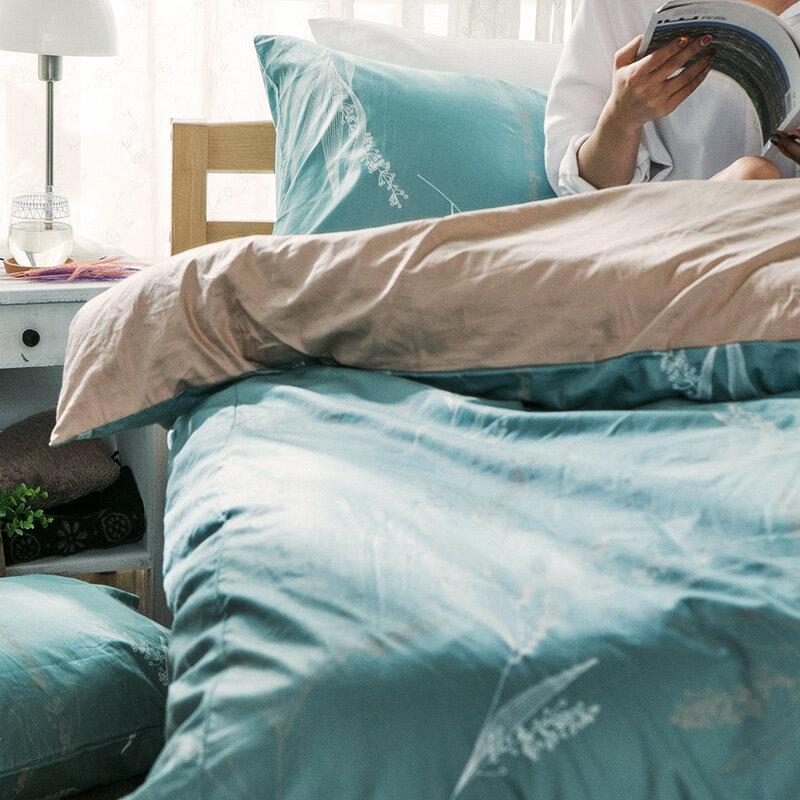 床包  /  雙人加大-100%精梳棉【柳葉輕淺】含兩件枕套 戀家小舖 好窩生活節  台灣製 6