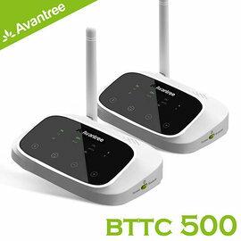 【Avantree低延遲無線藍牙接收發射器-支援數位光纖類比音源(BTTC500)-遠距一對一無線組】支援AppleTV、PS4等光纖輸出電視【風雅小舖】