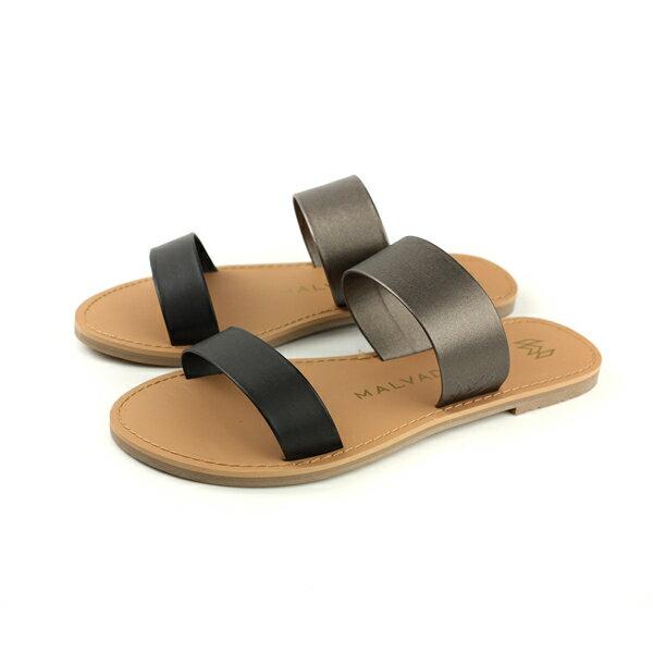 MALVADOSICON經典系列涼鞋拖鞋黑色女鞋3005-1740no012