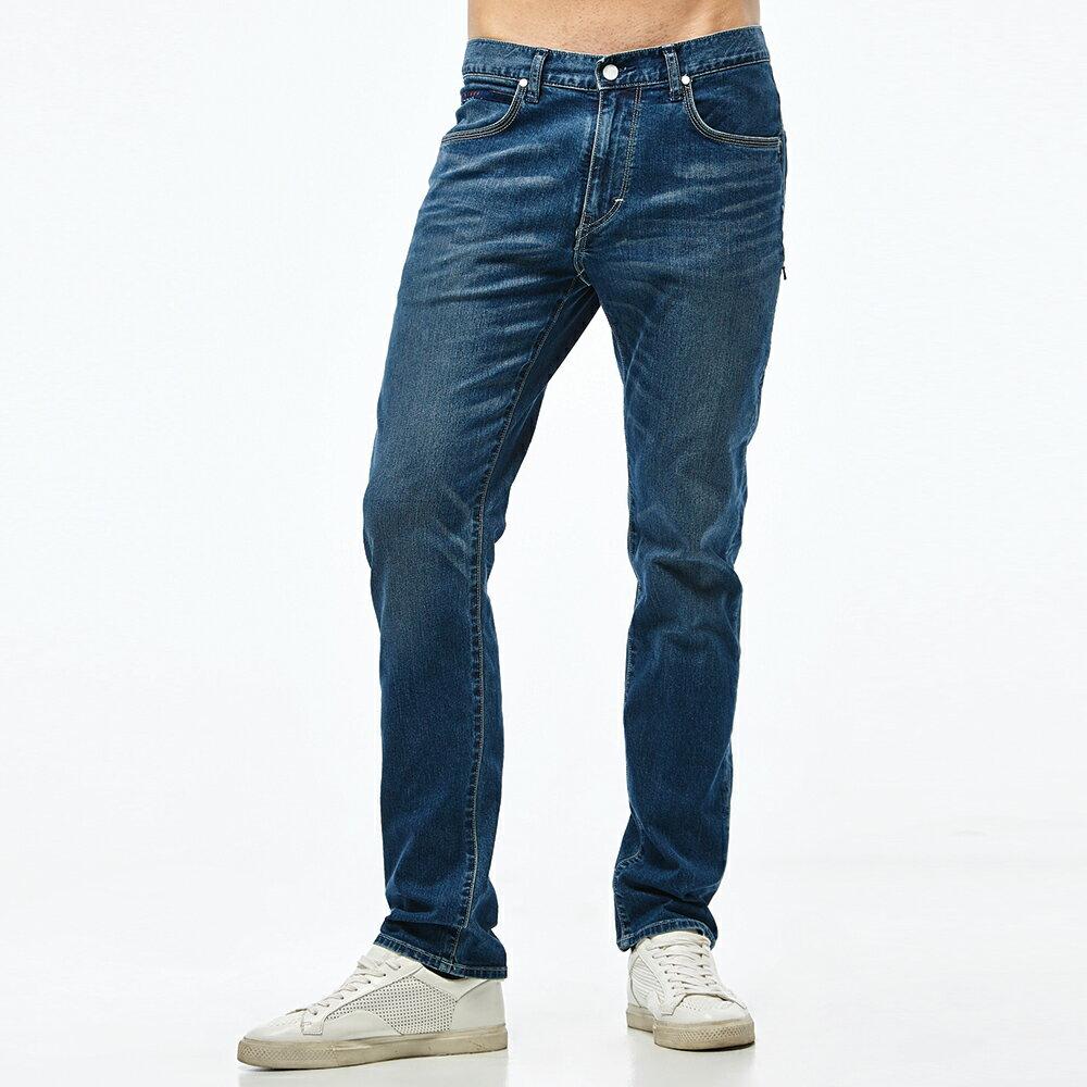 Lee 726 中腰舒適小直筒牛仔褲 男 彈性 涼感 Urban Riders Jade Fusion