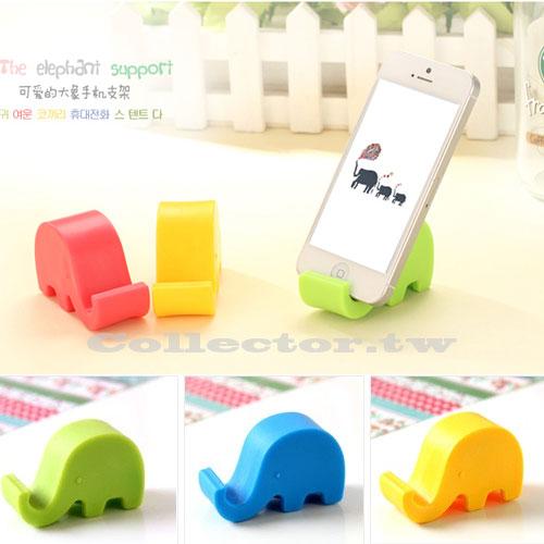 【K14090401】小清新可愛大象手機支架 多功能手機固定座