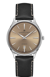 Hamilton 漢米爾頓 Jazzmaster Thinline 極簡時尚機械腕錶 H38525721 棕 銀 黑 40mm